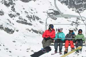 Family ski lift New Zealand