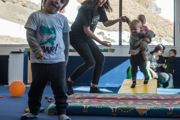 Family ski holiday with daycare on-mountain at Cardrona Alpine Resort