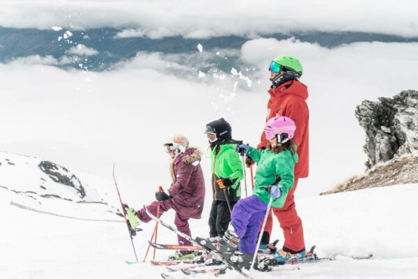 skiing in new zealand cardrona ski field nz ski lessons kids family