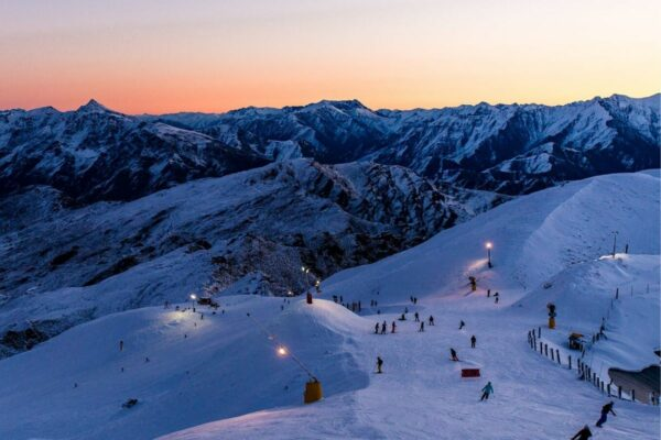 night skiing at Coronet Peak Ski Field
